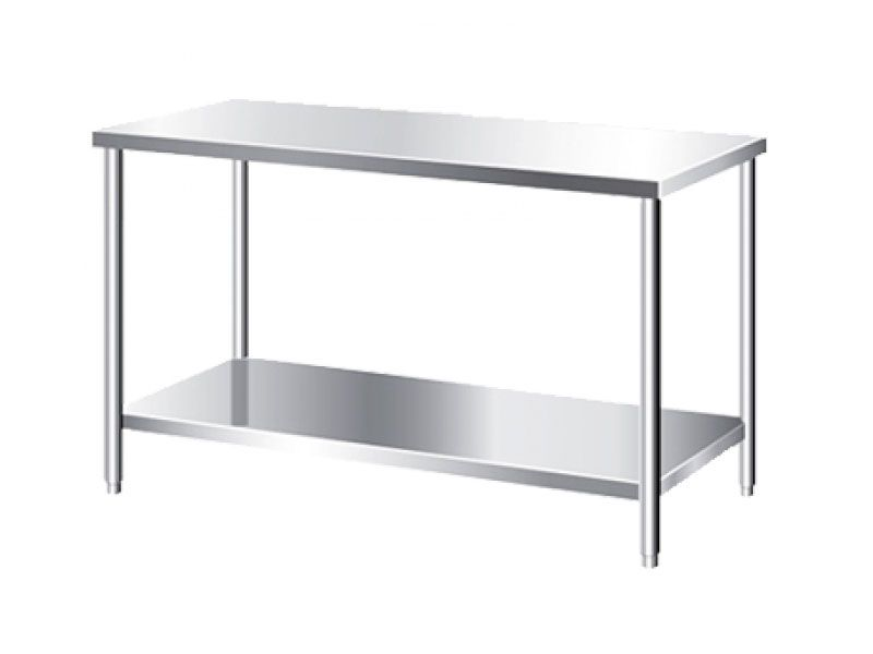Bàn inox 2 tầng – thiết bị phục vụ không thể thiếu trong mỗi khu bếp