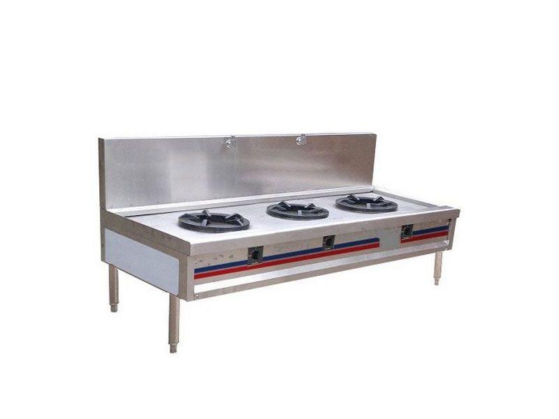 Bếp á 3 họng – Thiết bị bếp không thể thiếu đối với bếp ăn công nghiệp
