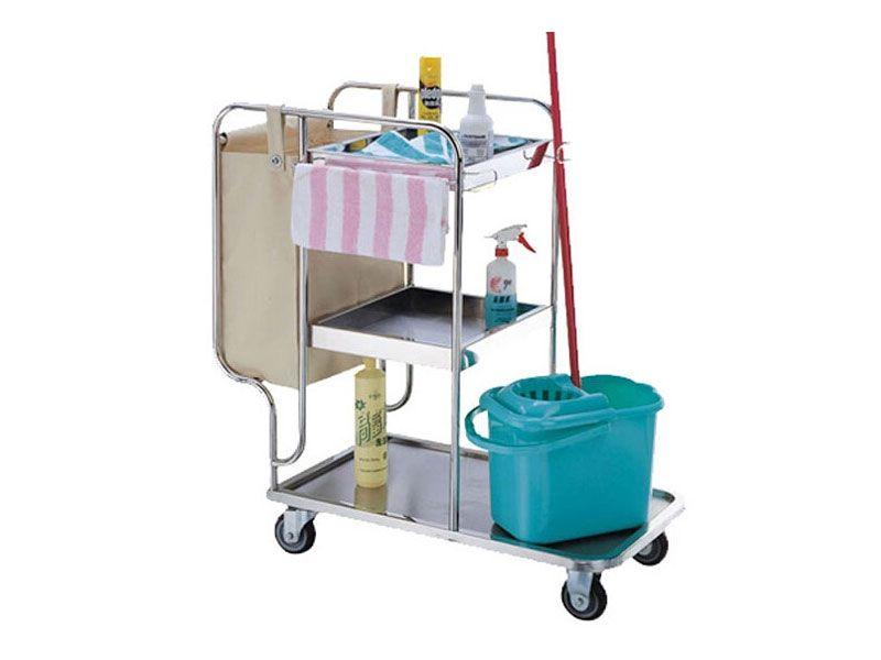 Xe đẩy dọn vệ sinh – Trợ thủ đắc lực dành cho nhân viên dọn phòng