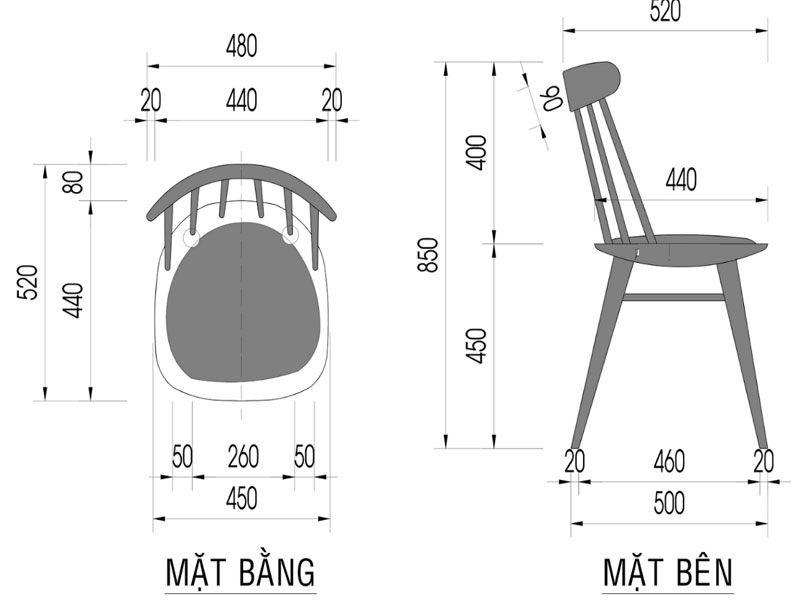 Kích thước ghế tiêu chuẩn của nhà hàng tiệc cưới