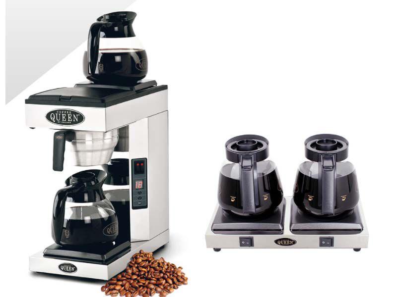 Bếp và bình hâm cafe