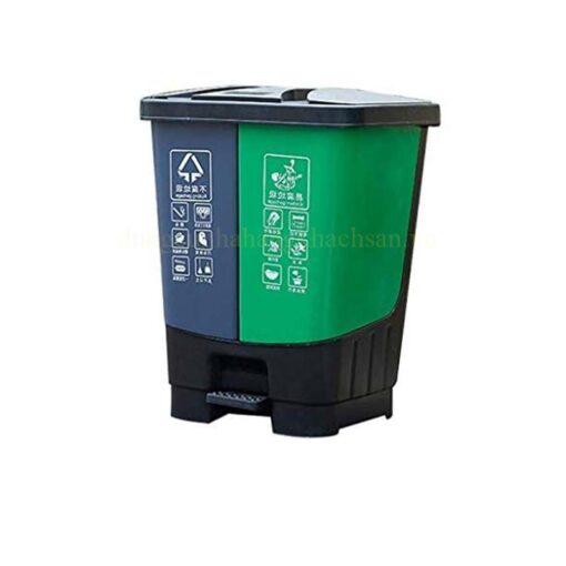Thùng rác phân loại 2 ngăn 40L