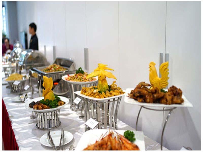 Thiết bị buffet dùng để trang trí tiệc buffet thêm phân sinh động và chuyên nghiệp
