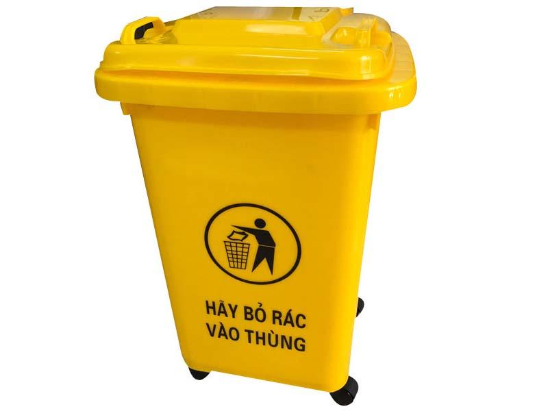 Thùng rác 60 lít có 4 bánh xe