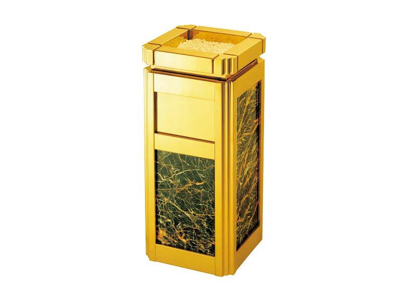 Thùng rác inox đá hoa cương mạ vàng